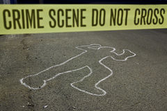 Crime scene do not cross Stock Photos