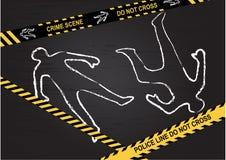 Crime scene. Do not cross. vector illustration