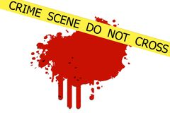 Crime Scene do not cross Stock Photography