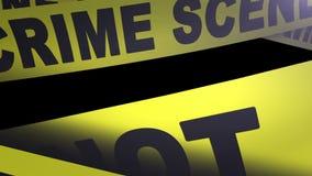 Crime scene - Do Not Cross tape. stock footage