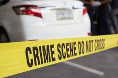 Crime scene do not cross royalty free stock photography