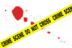 Crime Scene Do Not Cross Stock Images