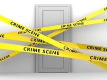 Crime scene door Royalty Free Stock Photo