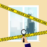 Crime scene. Flat design,  illustration Royalty Free Stock Photos