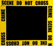 Crime scene frame royalty free stock photography