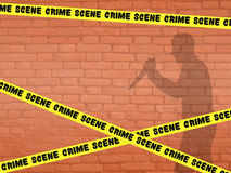 Crime scene. Funny illustration of crime scene Stock Image