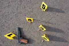 Crime scene after gunfight Stock Image