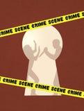 Crime scene. Illustration of crime scene with a murder Stock Photos