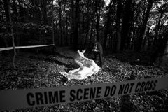 Crime Scene Investigation Royalty Free Stock Photo