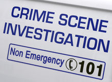 Crime Scene Investigation Στοκ Φωτογραφία