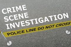Crime Scene Investigation concept Stock Photos