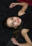 Crime scene investigation: dead woman royalty free stock photo