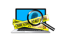 Crime Scene Investigation technology Royalty Free Stock Photo