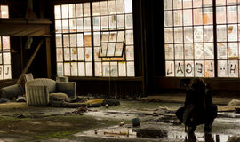 Crime Scene Investigator. CSI Photographer taking pictures of a crime scene Royalty Free Stock Image