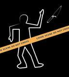 Crime scene with knife royalty free illustration