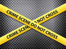 Crime scene metal background Stock Photography