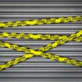 Crime Scene Metal Shutter Royalty Free Stock Image