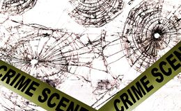 Crime scene police tape Royalty Free Stock Photos
