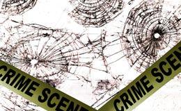 Crime scene police tape Royalty Free Stock Photos