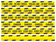 Crime Scene and Police Tapes Royalty Free Stock Photography
