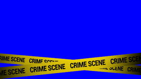 Crime scene. Signs in blue background danger caution tape royalty free illustration