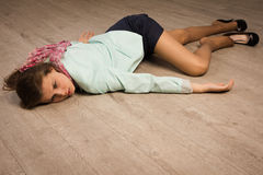 Free Crime Scene Simulation. Victim Lying On The Floor Stock Photography - 33652702