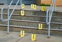 Crime Scene Steps Royalty Free Stock Photography