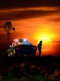 Crime scene at sunset Stock Image
