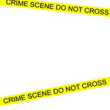 Crime scene tape. On white background Stock Images