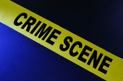 Crime scene tape Royalty Free Stock Photography