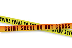Crime scene tape Royalty Free Stock Photo