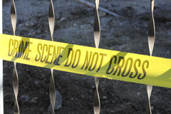 Crime Scene Tape Stock Photography