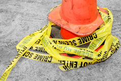 Crime scene tape Stock Image
