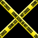 Crime scene tape Royalty Free Stock Image