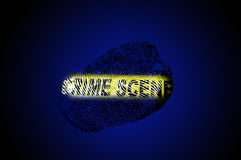 Crime scene tape blue Stock Photo