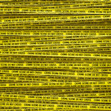 Crime scene tape. 3D render of large crime scene tape background Stock Photos
