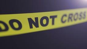 Crime scene tape. stock video