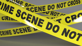 Crime scene tape. Do not Cross Royalty Free Stock Photo