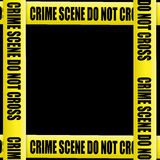 Crime scene tape frame Stock Image