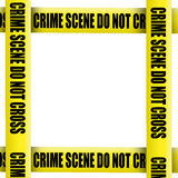 Crime scene tape frame Stock Photography