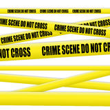 Crime scene tape Stock Images