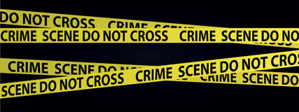 Crime scene tapes Stock Photography