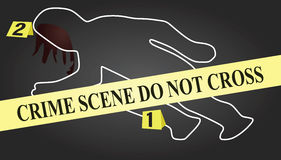 Crime scene. Vestor illustration of crime scene Stock Images