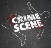 Crime Scene Violent Murder Homicide Forbidden Area Stock Photos