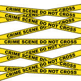 Crime Scene Warning Background Royalty Free Stock Photos