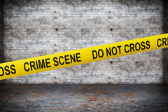 Crime Scene Yellow Tape Stock Photos