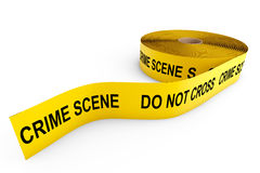Crime Scene Yellow Tape Royalty Free Stock Photos