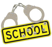 Crime in schools Stock Photo