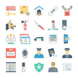 Crime and Security Vector Icons 5 Royalty Free Stock Photos