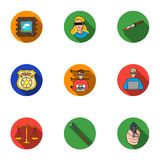 Crime set icons in flat style. Big collection of crime vector symbol. Stock Royalty Free Stock Image
